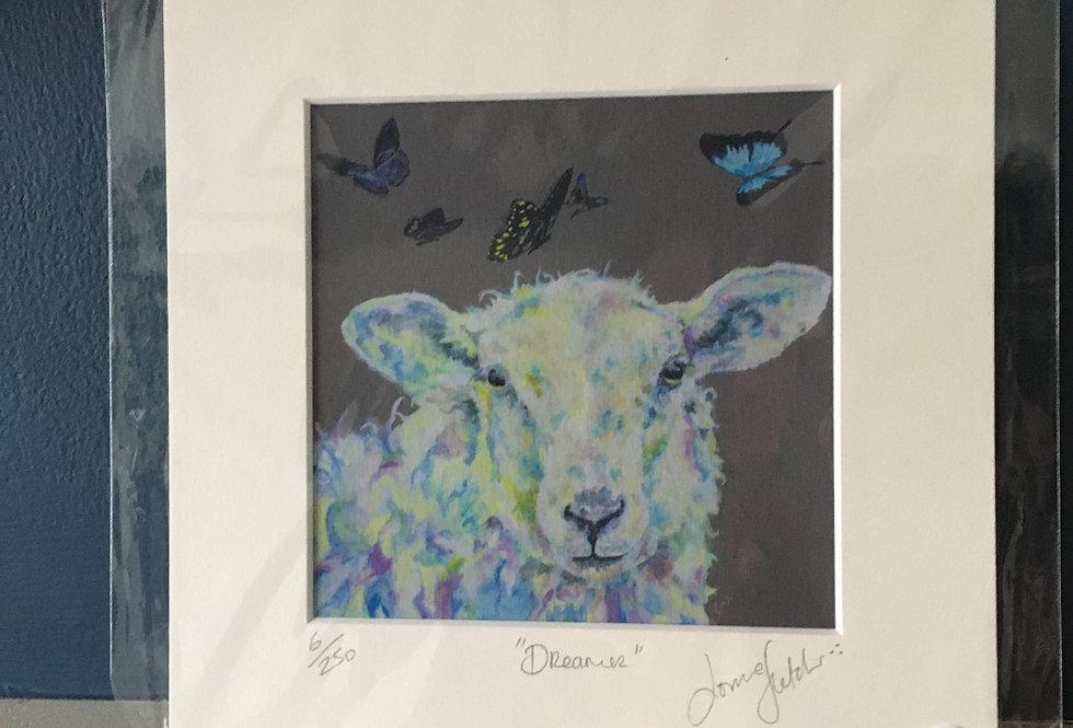 Lorraine Fletcher print- Dreamer- Sheep