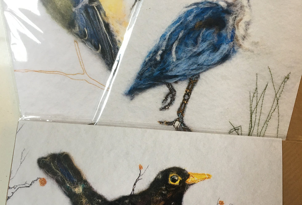 Bird lover card pack x 4
