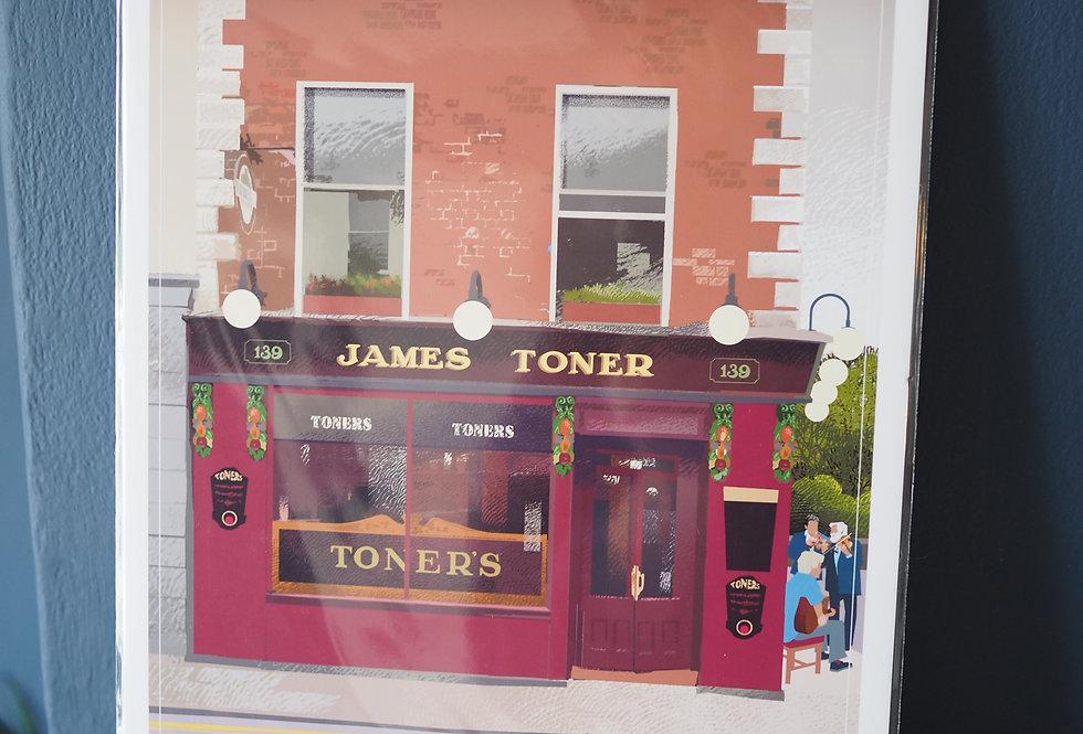 Irish Pub Series Print A4 -Toners - Dublin