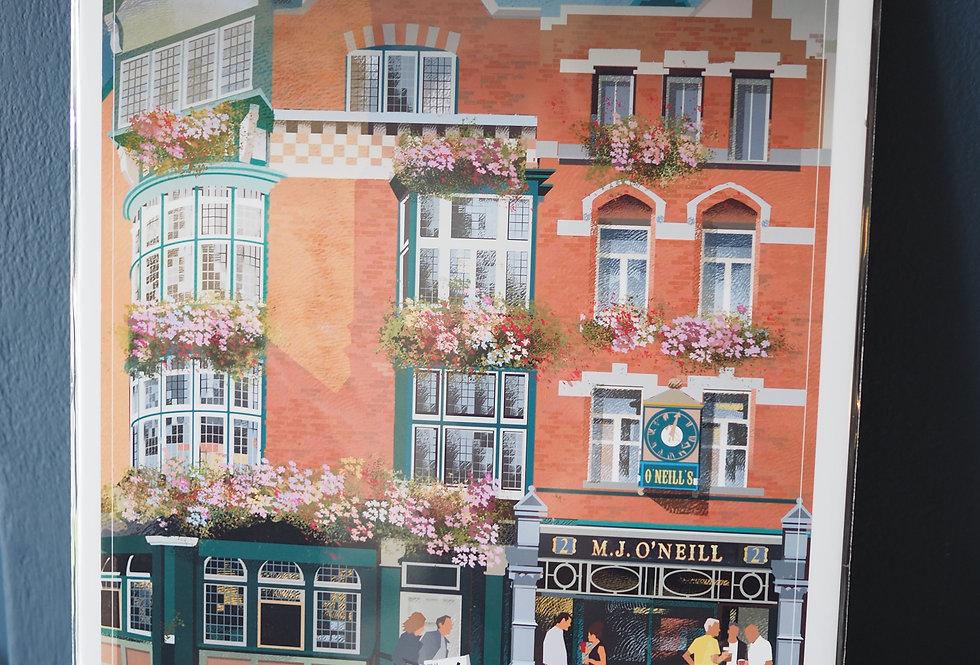 Irish Pub Series Print A4 -O'Neills- Dublin