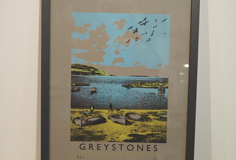 Handpulled limited edition screenprint- Greystones