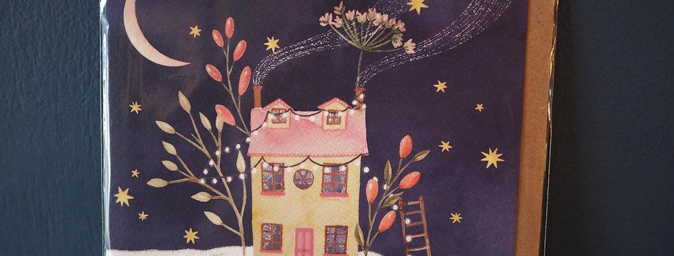 Magic House Christmas Card- Pickled pom pom