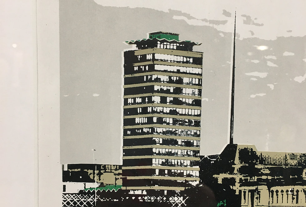 Handpulled Limited Edition Screenprint of Dublin - Gavin Beatty