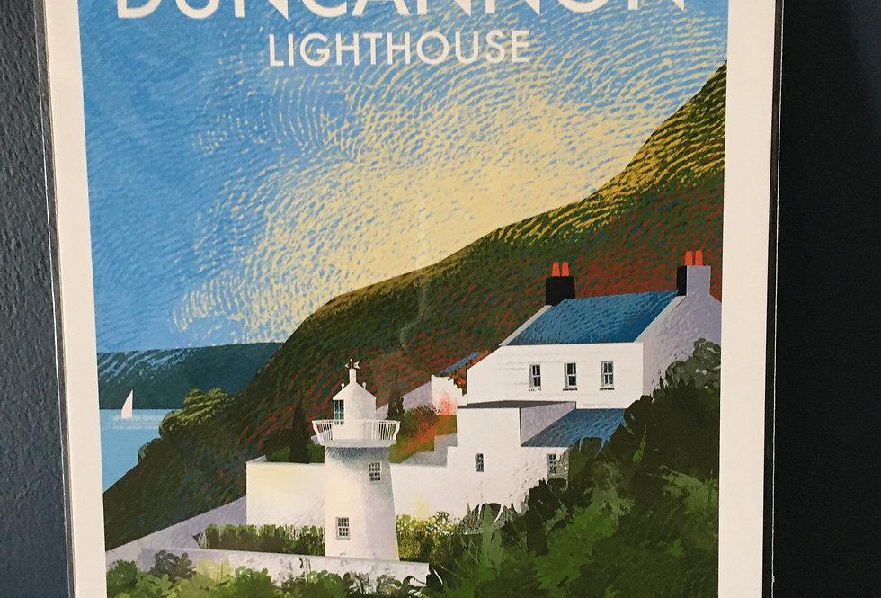 Irish Lighthouse Series A4 Artist Signed Print-Duncannon