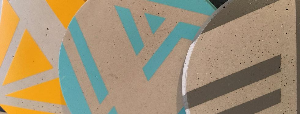 Ail+El Concrete Coasters- Various colours