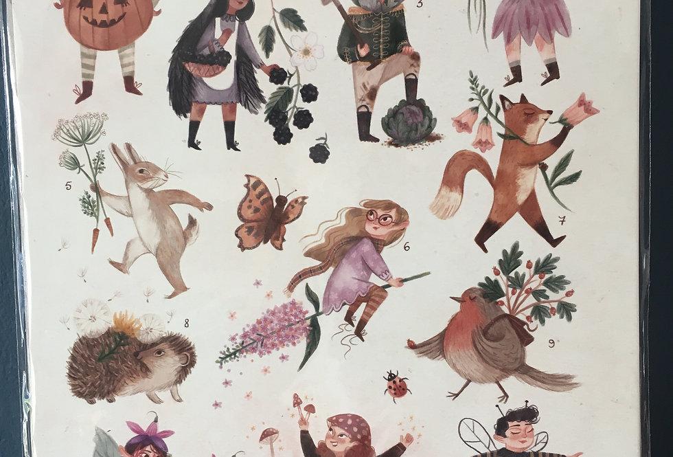 Secret Garden Signed Artist Print A4- Rachel Corcoran