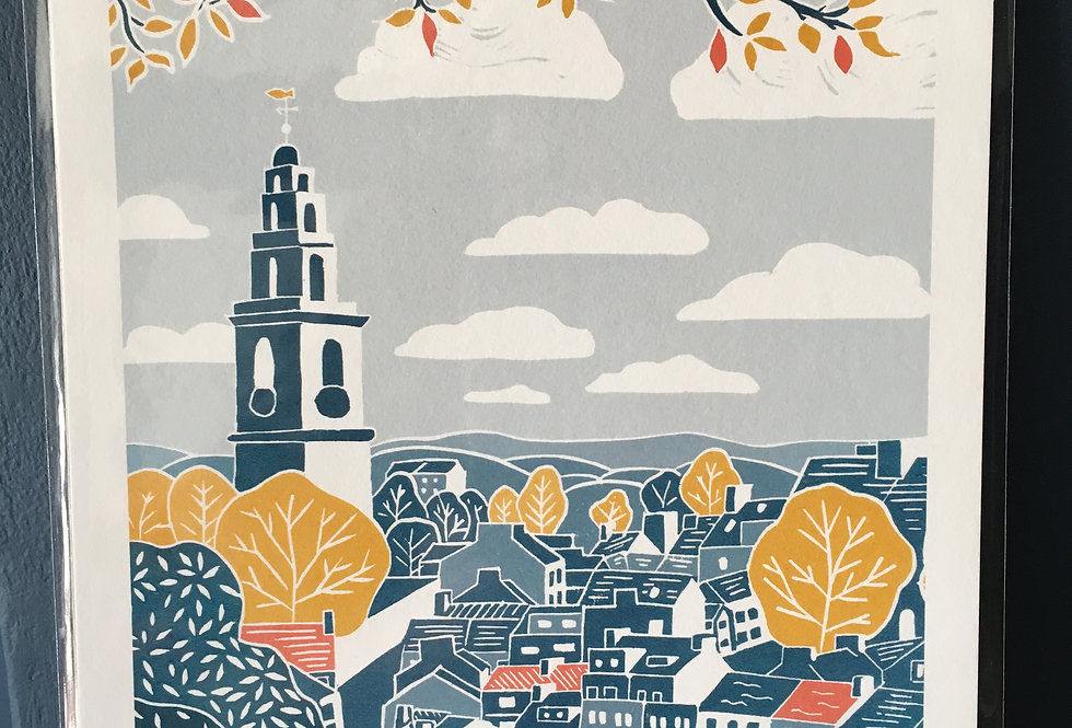 Bells of Shandon Cork City Artist Print- Sorrel Reilly