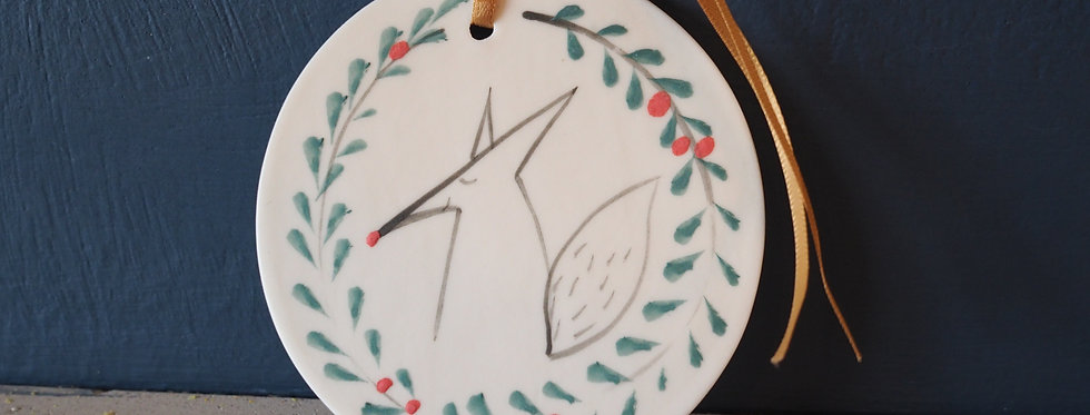 Woodland Christmas Handmade Disc Ornaments