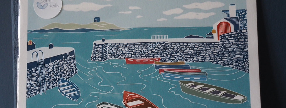 Coliemore Harbour Dalkey -Sorrell Reilly Print