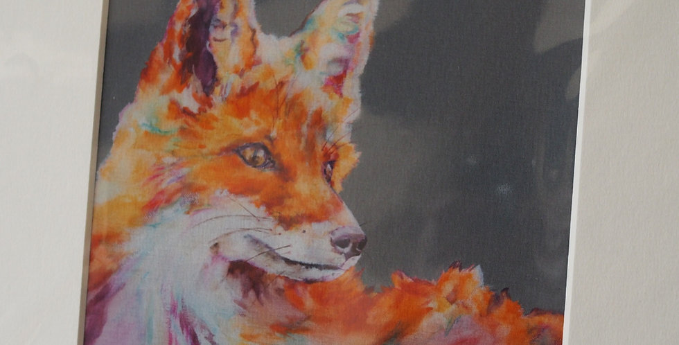 Technicolour Dreams Fox Irish Artist Limited Edition Print- Lorraine Fletcher
