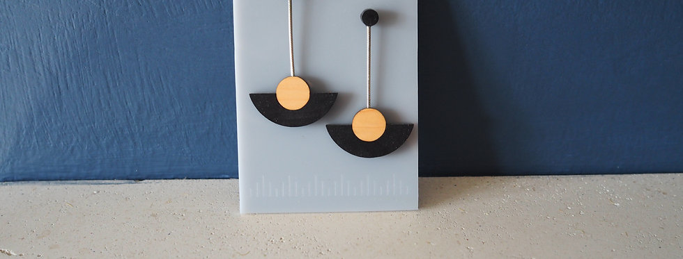 Rowena Sheen Jewellery- Irish Wooden Earrings Contemporary Design