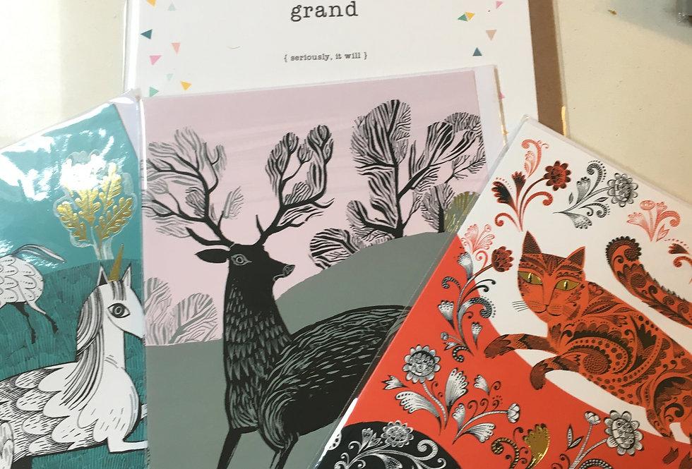 Animal lover card pack