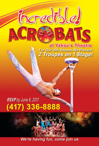 YOU'RE INVITED TO THE ACROBATS OF CHINA SPECIAL VIP SHOW