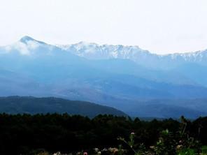 八ヶ岳に初冠雪