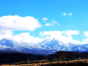 八ヶ岳が雪にすっぽり覆われました