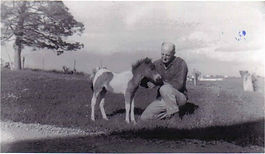 Melvin Ter Beest with a pony