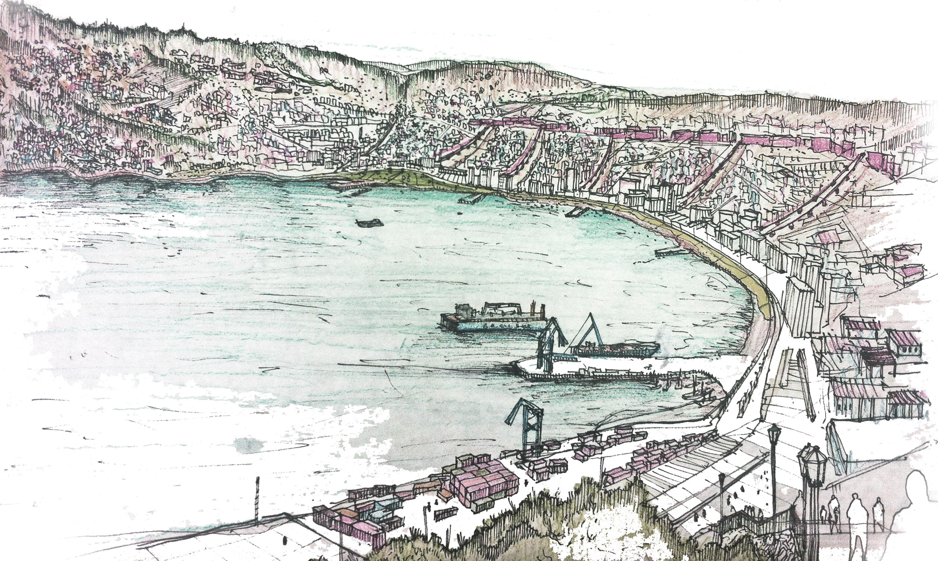 Croquis Valparaíso