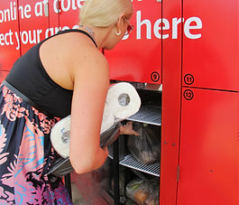 Grocery Lockers, Electronic Locker, Click n Collect
