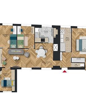 Plan appartement Paris 5ème