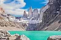 Three-Towers-and-glacial-lake-at-Torres-