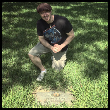 Paige at Freddy Kings Grave