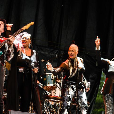 On stage in Sierre Switzerland 2019