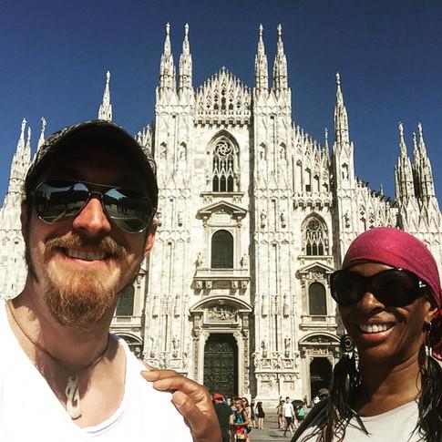 Paige with Shakura S'aida in Milano Italy