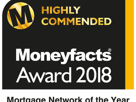 Moneyfacts Awards 2018 - Highly Commended!