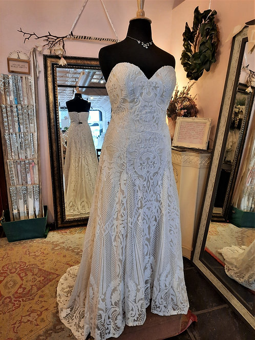 Dress 1600-D18 Label Size 18 Fits 16W/18/20