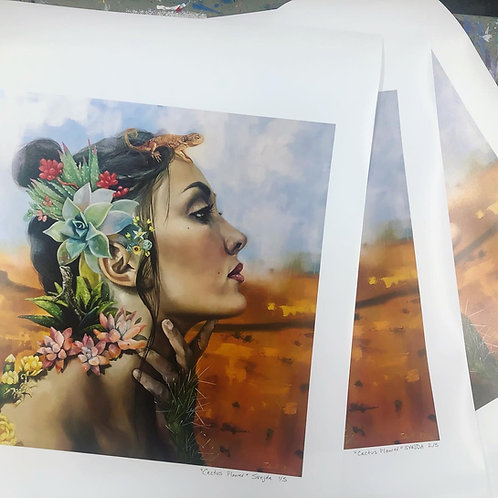 """Desert Flower"" Limited edition print"
