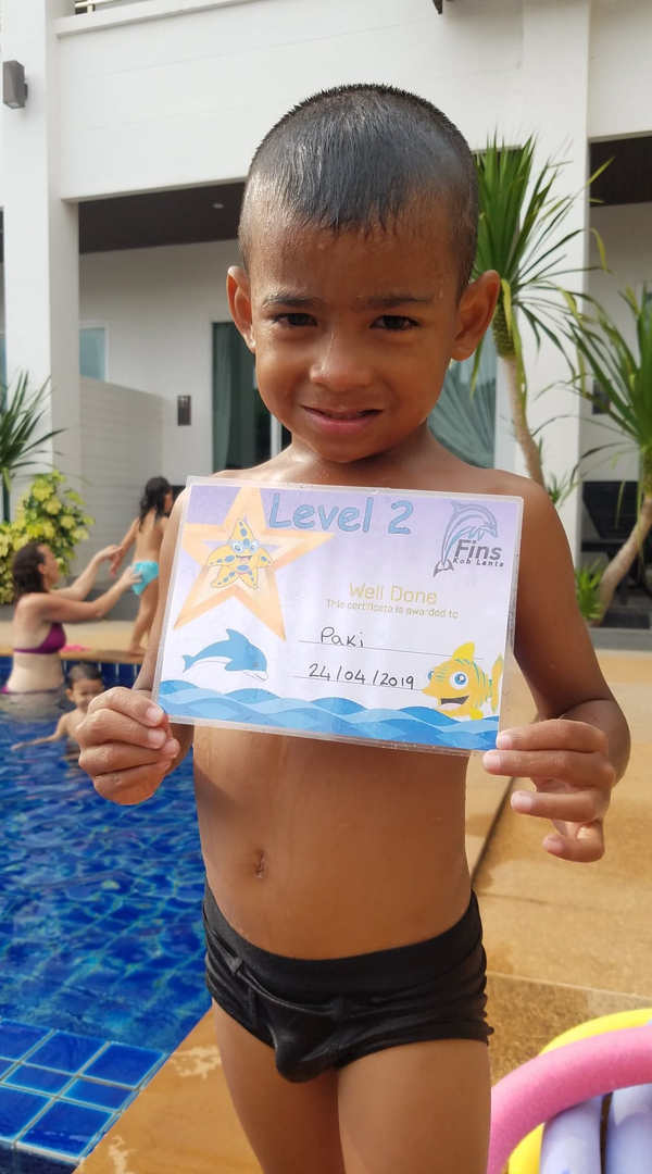 fins swimmers certificate