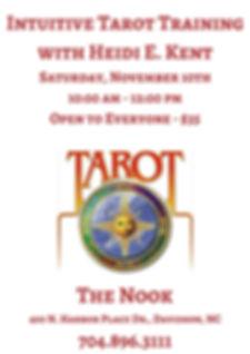 November 2018 Intuitive Tarot Trainingwi