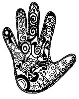 This is a picture of the Palm of a hand for Palmistry Reading