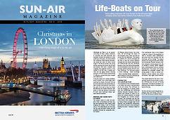 sun-air magazine 2018, life-boats on tou