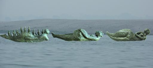 Fotomontage af Life-boats bronze modeller 1:40