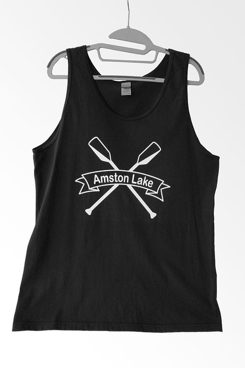 Amston Lake - Black Tank Top
