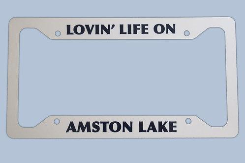 Amston Lake License Plate Frame