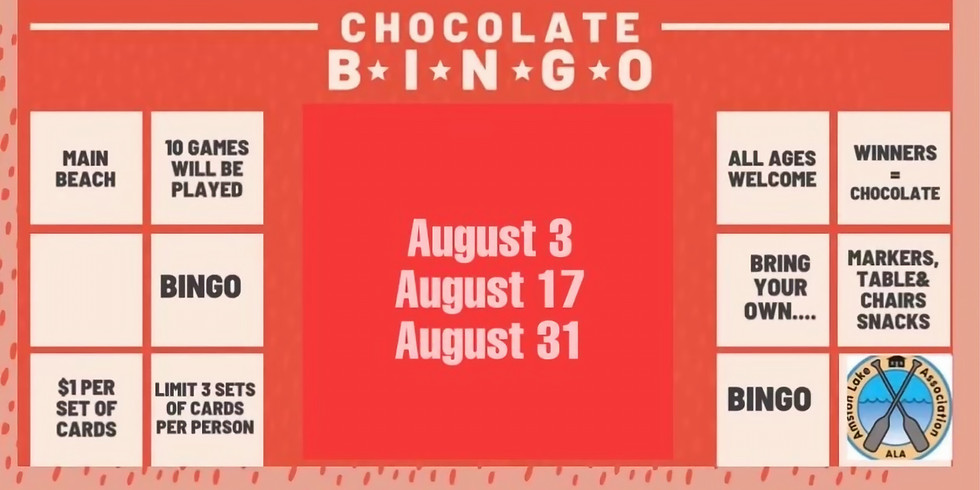 Chocolate Bingo on Main Beach - 6:30