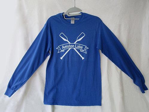 Amston Lake - Long Sleeve Royal Blue Tee Shirt