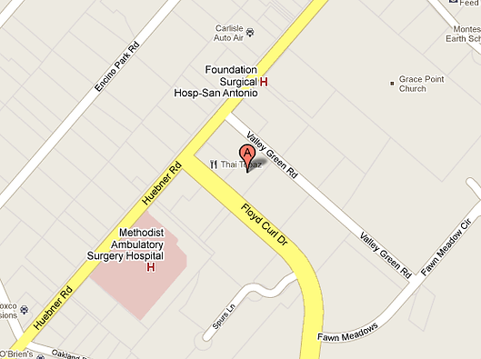 Google Map of South Texas Skin Cancer Center Medical Center location.
