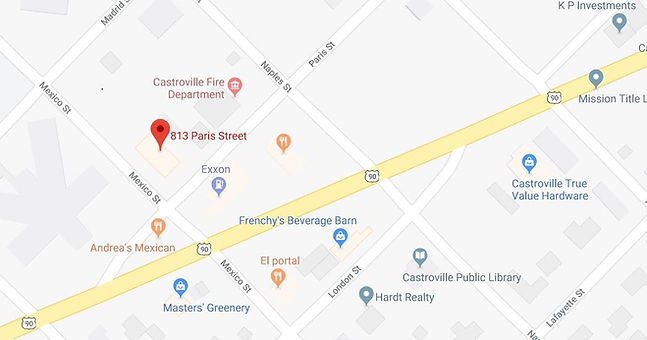 Google Map of South Texas Skin Cancer Center Castroville location.