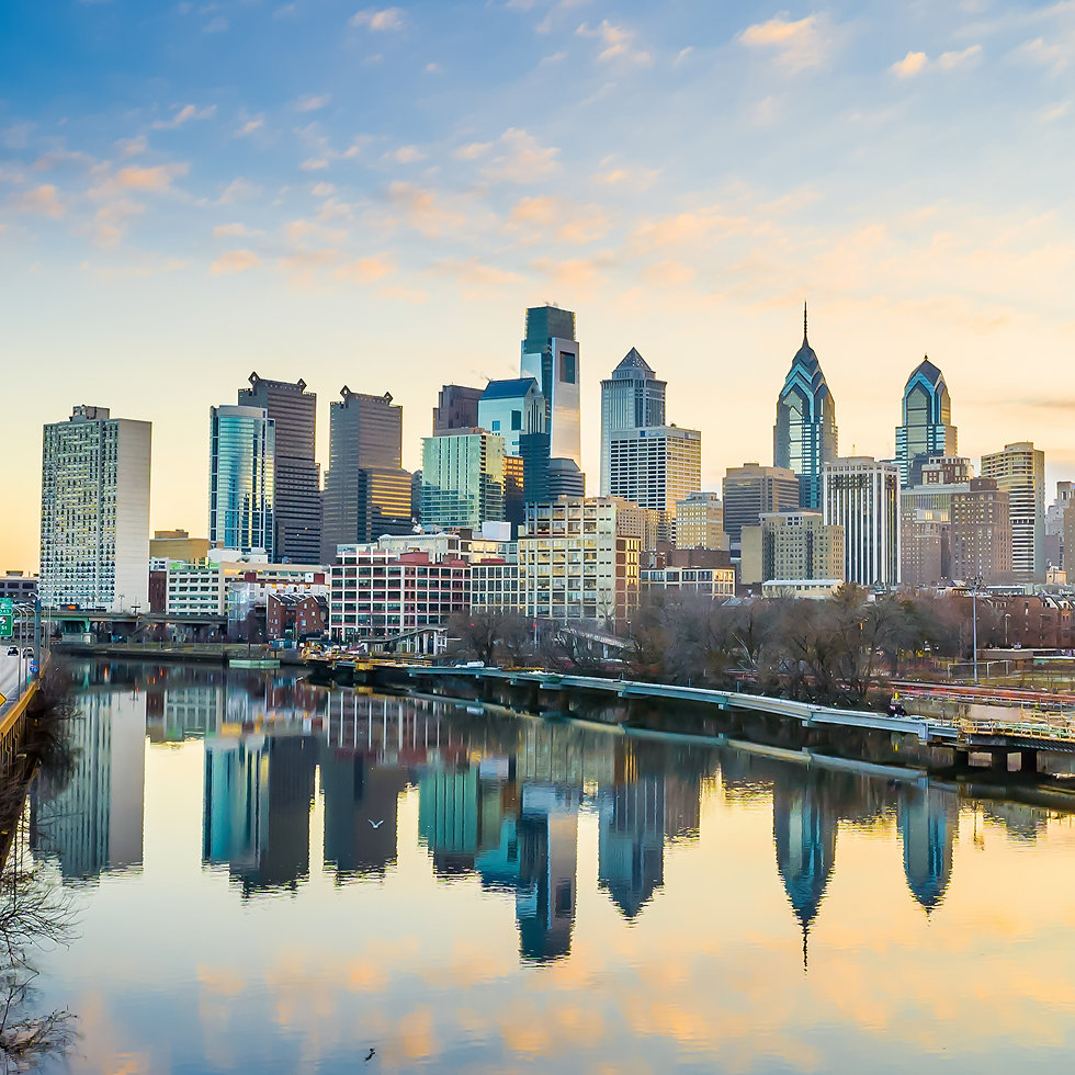 Downtown Skyline of Philadelphia Pennsyl