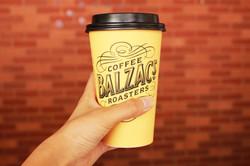 A pretty coffee cup