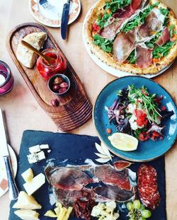 Various Italian dishes