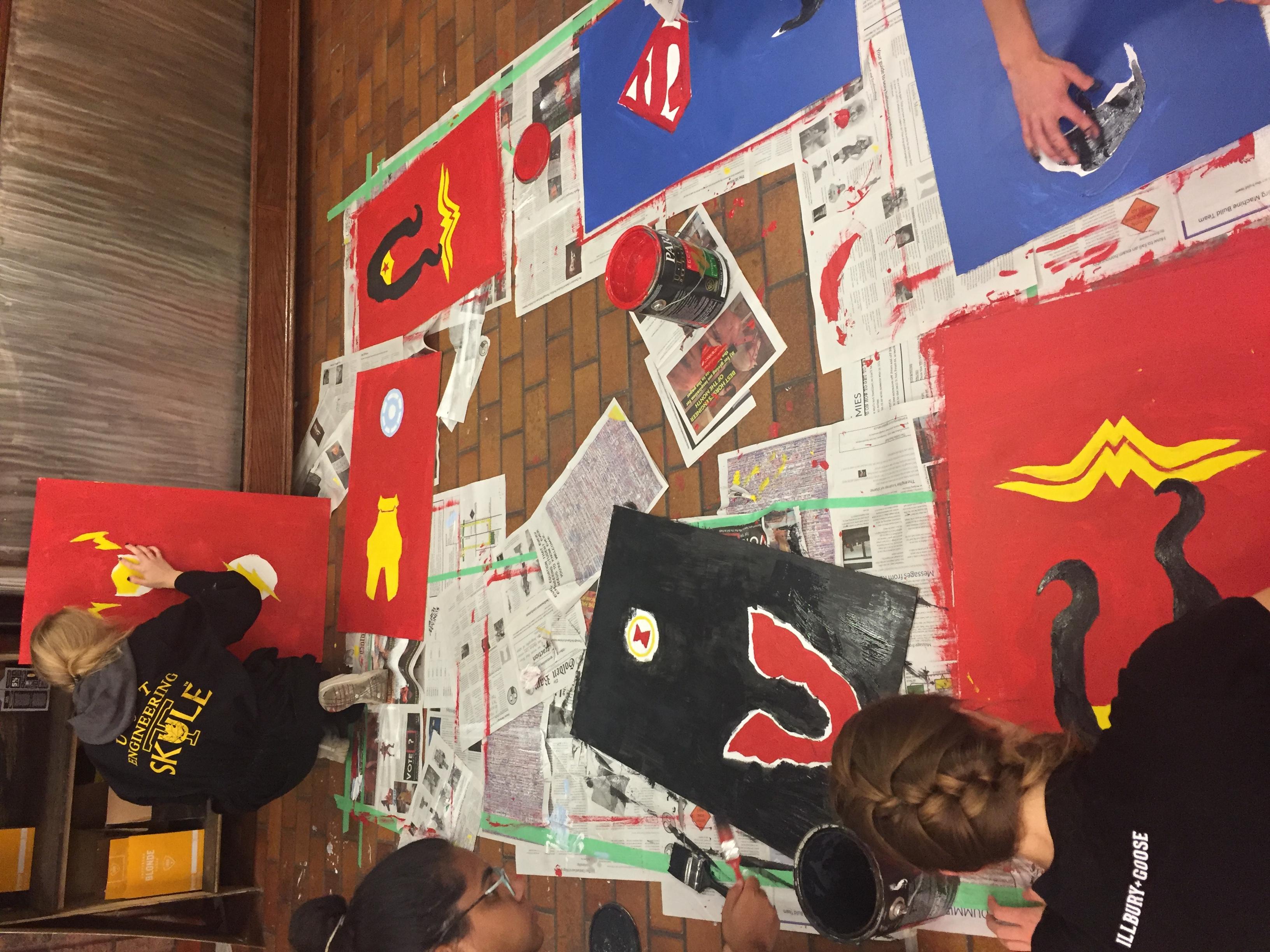 Painting the superheros