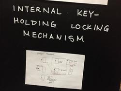 Design for key-holding mechanism