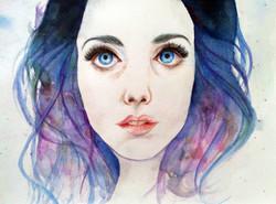 A watercolor portrait.