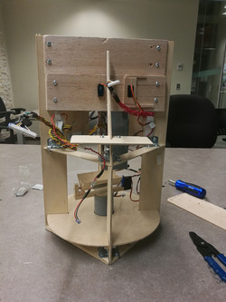 Front view of support frame