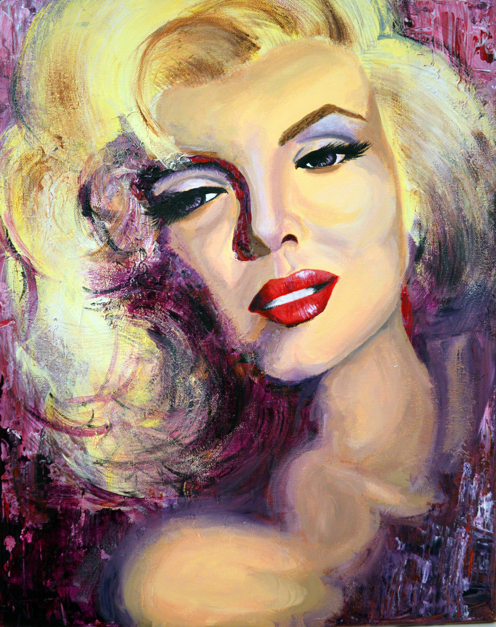 Acrylic portrait of Marilyn Monroe