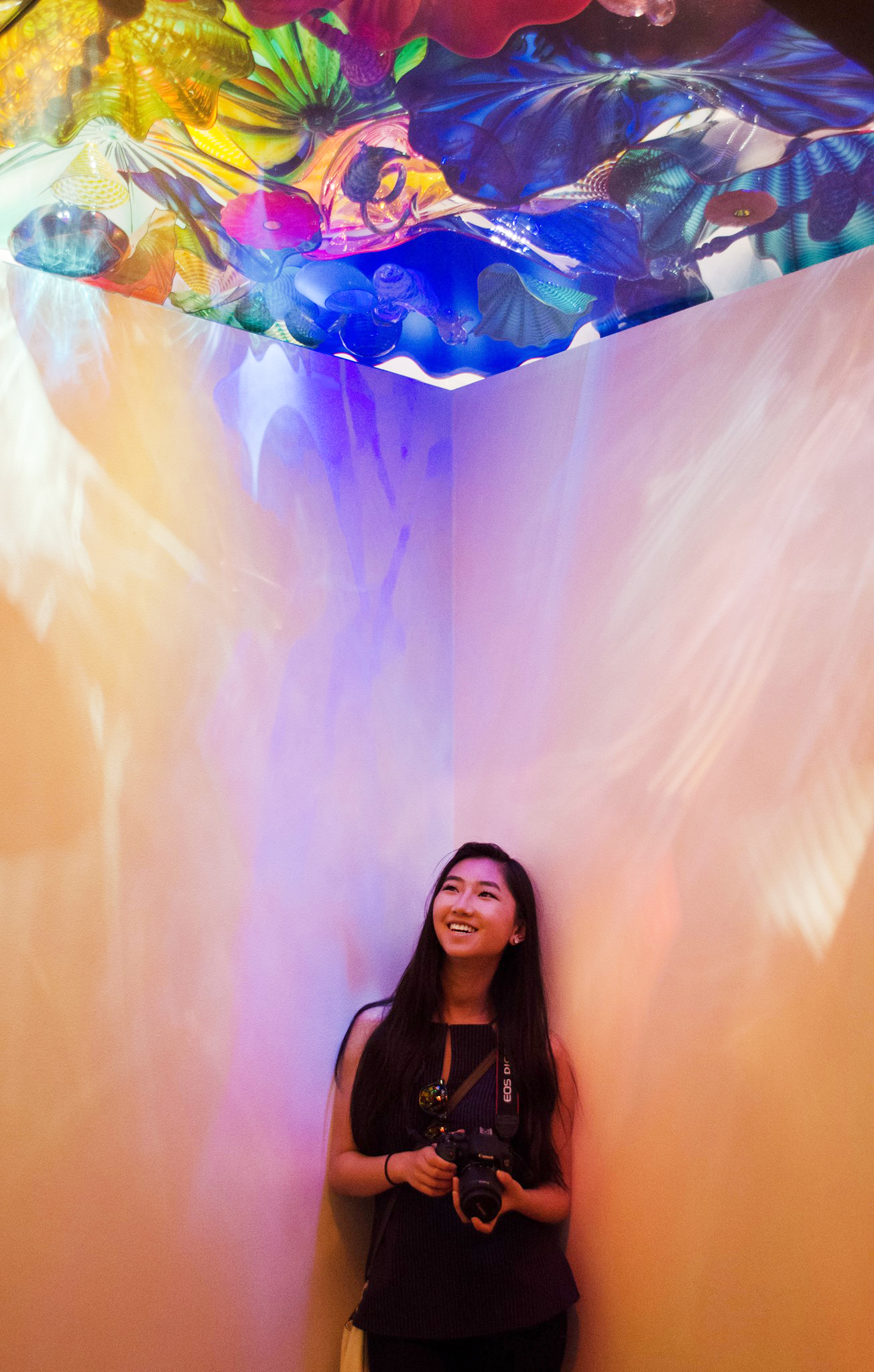 Me in the Chihuly Glass Museum